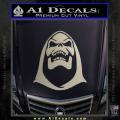 Skeletor Decal Sticker He Man Metallic Silver Vinyl 120x120