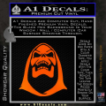 Skeletor Decal Sticker He Man Orange Emblem 120x120