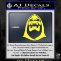 Skeletor Decal Sticker He Man Yellow Vinyl 120x120