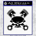 Skull And Pistons Decal Sticker Black JDM Vinyl 120x120