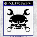 Skull And Wrenches Decal Sticker Black Vinyl 120x120