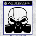 Skull Gas Mask Decal Sticker Black Vinyl 120x120
