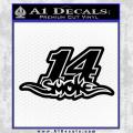 Smoke 14 Tony Stewart D2 Decal Sticker Black Vinyl 120x120