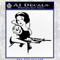 Snow White Badass Princess AK 47 Decal Sticker Black Vinyl 120x120