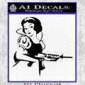 Snow White Badass Princess AK 47 Decal Sticker Black Vinyl 120x120