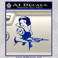 Snow White Badass Princess AK 47 Decal Sticker Blue Vinyl 120x120