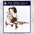 Snow White Badass Princess AK 47 Decal Sticker Brown Vinyl 120x120
