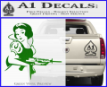 Snow White Badass Princess AK 47 Decal Sticker Green Vinyl 120x97