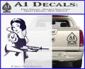 Snow White Badass Princess AK 47 Decal Sticker Purple Vinyl 120x97