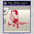 Snow White Badass Princess AK 47 Decal Sticker Red Vinyl 120x120