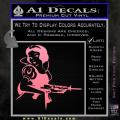 Snow White Badass Princess AK 47 Decal Sticker Soft Pink Emblem 120x120
