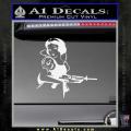Snow White Badass Princess AK 47 Decal Sticker White Vinyl 120x120