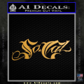 So Cal Script Decal Sticker Gold Metallic Vinyl 120x120