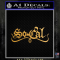 So Coal Star Script D2 Decal Sticker Gold Metallic Vinyl 120x120