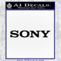 Sony Decal Sticker Black Vinyl 120x120