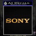 Sony Decal Sticker Gold Metallic Vinyl 120x120