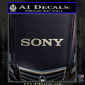 Sony Decal Sticker Metallic Silver Vinyl 120x120