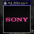 Sony Decal Sticker Neon Pink Vinyl 120x120