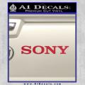 Sony Decal Sticker Red Vinyl 120x120