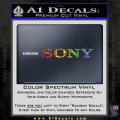 Sony Decal Sticker Spectrum Vinyl 120x120
