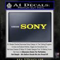 Sony Decal Sticker Yellow Vinyl 120x120