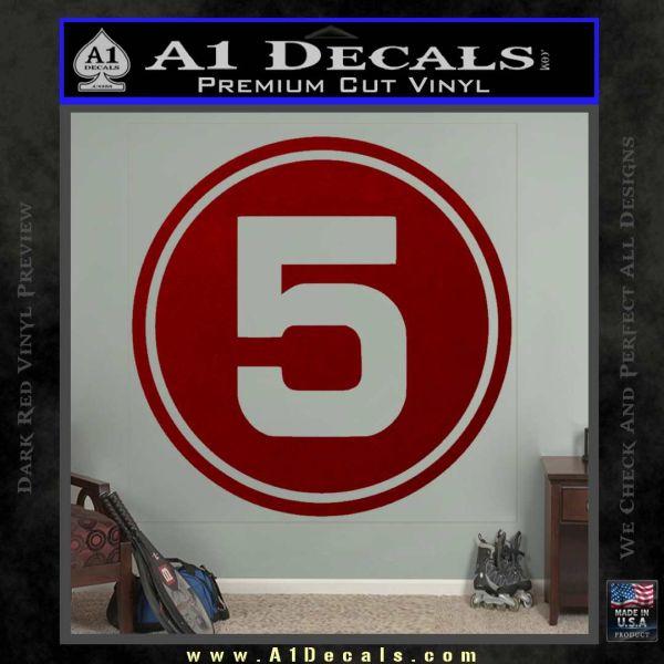 Speed racer mach 5 number decal sticker drd vinyl