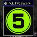 Speed Racer Mach 5 Number Decal Sticker Lime Green Vinyl 120x120