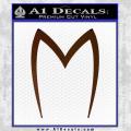 Speed Racer Mach5 Logo Decal Sticker Brown Vinyl 120x120