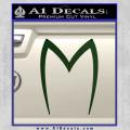 Speed Racer Mach5 Logo Decal Sticker Dark Green Vinyl 120x120