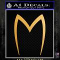 Speed Racer Mach5 Logo Decal Sticker Gold Metallic Vinyl 120x120