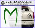Speed Racer Mach5 Logo Decal Sticker Green Vinyl 120x97