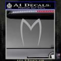 Speed Racer Mach5 Logo Decal Sticker Grey Vinyl 120x120