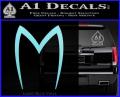 Speed Racer Mach5 Logo Decal Sticker Light Blue Vinyl 120x97