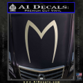 Speed Racer Mach5 Logo Decal Sticker Metallic Silver Vinyl 120x120