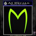 Speed Racer Mach5 Logo Decal Sticker Neon Green Vinyl 120x120