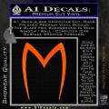 Speed Racer Mach5 Logo Decal Sticker Orange Emblem 120x120