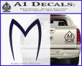 Speed Racer Mach5 Logo Decal Sticker Purple Vinyl 120x97