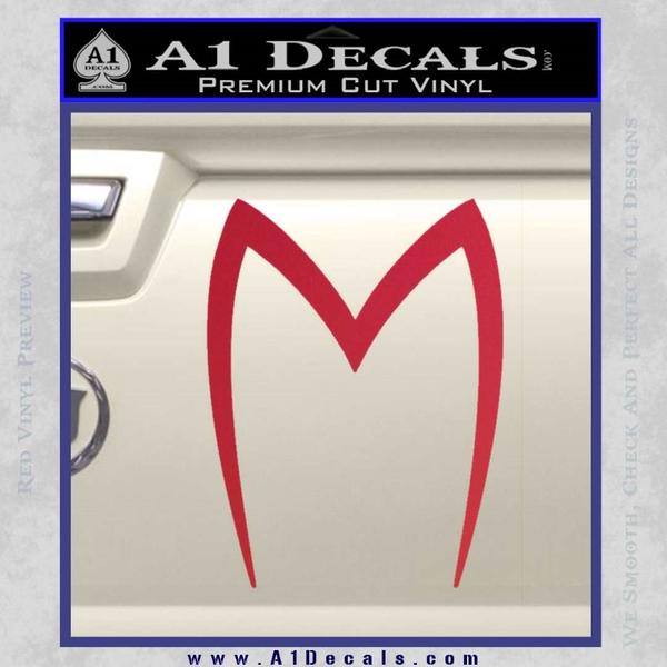 Speed racer mach5 logo decal sticker red vinyl