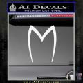 Speed Racer Mach5 Logo Decal Sticker White Vinyl 120x120