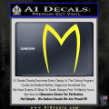 Speed Racer Mach5 Logo Decal Sticker Yellow Vinyl 120x120
