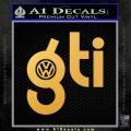 VW Gti D1 Decal Sticker Gold Vinyl 120x120