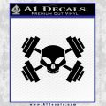 Weightlifting Decal Dumbells Skull Black Vinyl 120x120