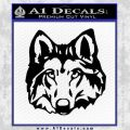 Wolf Head Decal Sticker DF Black Vinyl 120x120