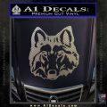 Wolf Head Decal Sticker DF Carbon FIber Chrome Vinyl 120x120
