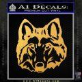 Wolf Head Decal Sticker DF Gold Vinyl 120x120