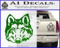 Wolf Head Decal Sticker DF Green Vinyl Logo 120x97