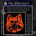 Wolf Head Decal Sticker DF Orange Emblem 120x120