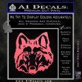 Wolf Head Decal Sticker DF Pink Emblem 120x120