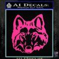 Wolf Head Decal Sticker DF Pink Hot Vinyl 120x120