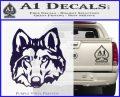 Wolf Head Decal Sticker DF PurpleEmblem Logo 120x97